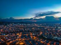 Aterre o scape em Pereira capital del eje Colômbia imagem de stock royalty free