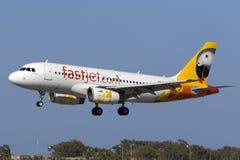 Aterrissagem após o voo de ensaio Fotografia de Stock