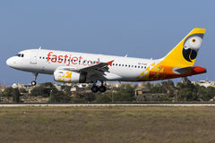 Aterrissagem após o voo de ensaio Foto de Stock