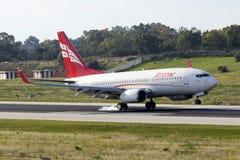 Aterrissagem B737 Georgian Imagens de Stock