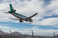 Aterrissagem de Aer Lingus Aircraf Foto de Stock