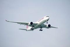 Aterrissagem de Airbus A350 Foto de Stock