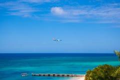 Aterrissagem de avião Imagem de Stock