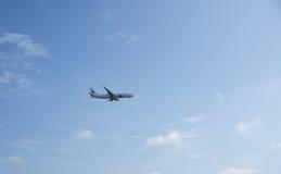 Aterrissagem de aviões Foto de Stock