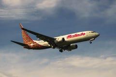 Aterrissagem de aviões Imagem de Stock Royalty Free