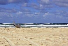 Aterrissagem de praia Fraser Island fotografia de stock