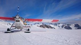 Aterrissagem de Safari Glacier do ar Imagens de Stock