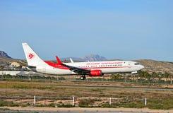 Aterrissagem do avião comercial Imagens de Stock Royalty Free