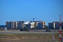 Aterrissagem do avião comercial de Air Europa no aeroporto de Alicante Imagem de Stock