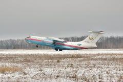 Aterrissagem Il-76 Foto de Stock Royalty Free