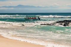 Aterrissagem na praia imagem de stock