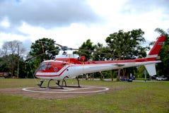 Aterrissagem na selva, aterrissagem do helicóptero do helicóptero imagem de stock royalty free