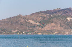 Aterrissagem plana na ilha de Zakynthos Fotografia de Stock