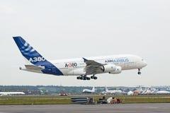 Aterrizaje A380 Fotos de archivo libres de regalías