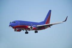 Aterrizaje de aeroplano Fotografía de archivo