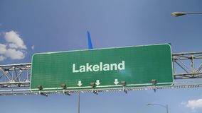 Aterrizaje de aeroplano Lakeland metrajes