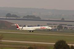 Aterrizaje de Air France del aeroplano Imagenes de archivo