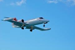 Aterrizaje de la citación de Cessna Imagen de archivo libre de regalías
