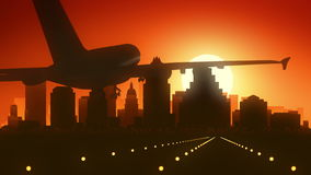 Aterrizaje de la salida del sol del horizonte de Austin Texas los E.E.U.U. América fotos de archivo libres de regalías