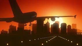 Aterrizaje de la salida del sol del horizonte de Richmond Virginia los E.E.U.U. América fotografía de archivo