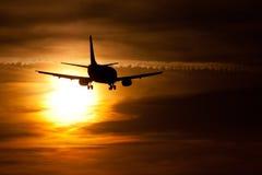 Aterrizaje de la tarde Fotografía de archivo