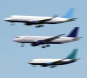 Aterrizaje de los aviones Foto de archivo libre de regalías