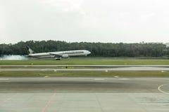 Aterrizaje de Singapore Airlines Fotos de archivo libres de regalías