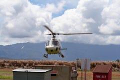 Aterrizaje del helicóptero Imagen de archivo