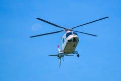Aterrizaje del helicóptero Foto de archivo libre de regalías