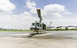 Aterrizaje del helicóptero Foto de archivo