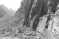Aterrizaje del ` s del ángel y Rim Trail - el Zion del oeste Fotografía de archivo libre de regalías