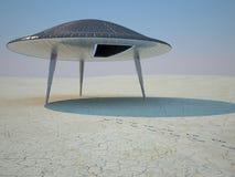 Aterrizaje del UFO Foto de archivo libre de regalías