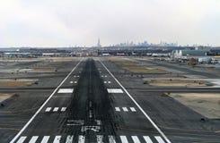 Aterrizaje en JFK Imagen de archivo libre de regalías