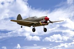 Aterrizaje P-40 Imágenes de archivo libres de regalías