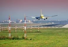 Aterrizaje plano Foto de archivo libre de regalías