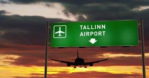 Aterrizaje plano en Oslo con el letrero metrajes