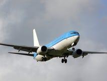 Aterrizaje rápido del jet Imagen de archivo libre de regalías