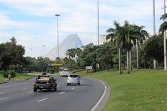 Aterro fa il parco di Flamengo in Rio de Janeiro Fotografia Stock Libera da Diritti