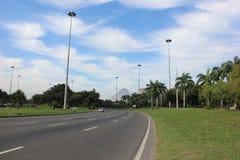Aterro fa il parco di Flamengo in Rio de Janeiro Immagini Stock