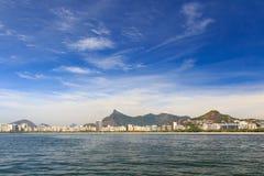 Aterro Flamengo park and beach with Corcovado, Rio de Janeiro Royalty Free Stock Photography