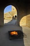 Ateshgah di Bacu (tempio del fuoco in Suraxanı) l'azerbaijan fotografia stock libera da diritti
