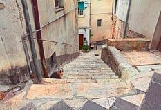 Atessa, Abruzzo, Italy: corner of the old town Royalty Free Stock Photos