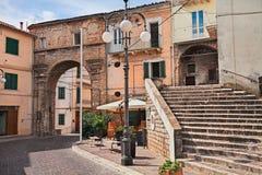 Atessa, Chieti, Abruzzo, Ιταλία: η παλαιά πύλη Porta Di SAN Ν πόλεων Στοκ φωτογραφία με δικαίωμα ελεύθερης χρήσης