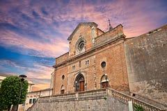 Atessam Chieti, Abruzzo, Italien: domkyrka av helgonet Leucio Fotografering för Bildbyråer