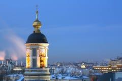 atevening ortodox tempeltid Royaltyfria Foton