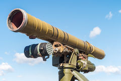 ATGM mounted on an old Russian tank Stock Photos