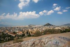 Athènes de colline de Mars avec le cloudscape intéressant Photographie stock