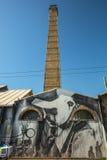 ATHÈNES, GRÈCE - art contemporain de graffiti sur des murs de ville Photographie stock libre de droits
