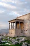 Athènes, Grèce - cariatides de l'erechteum image stock