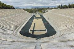 ATHÈNES, GRÈCE - 20 JANVIER 2017 : Panorama de stade ou de kallimarmaro de Panathenaic à Athènes Image libre de droits